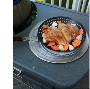Chicken and Sweet Potatoes in the Skillet